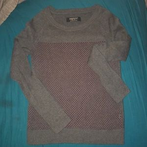 All Saints cotton sweater with burgundy lining.